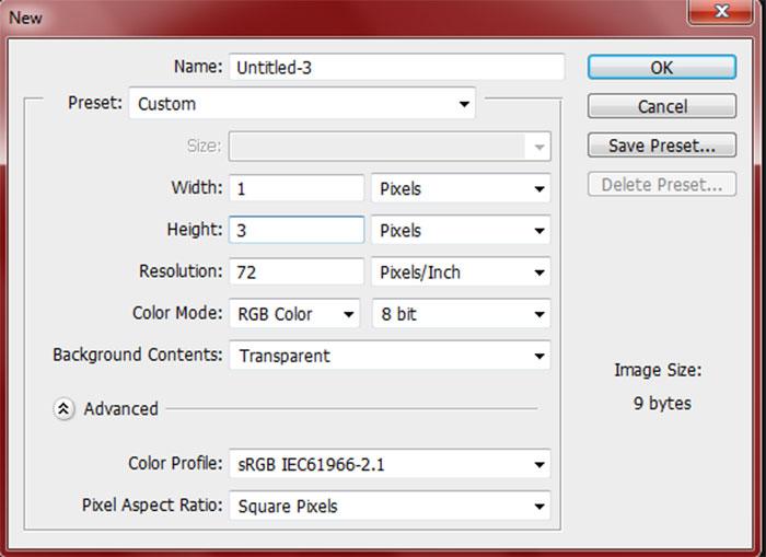 Создайте новый документ в Фотошопе (Ctrl + N) размером 7472 x 6908 для набр